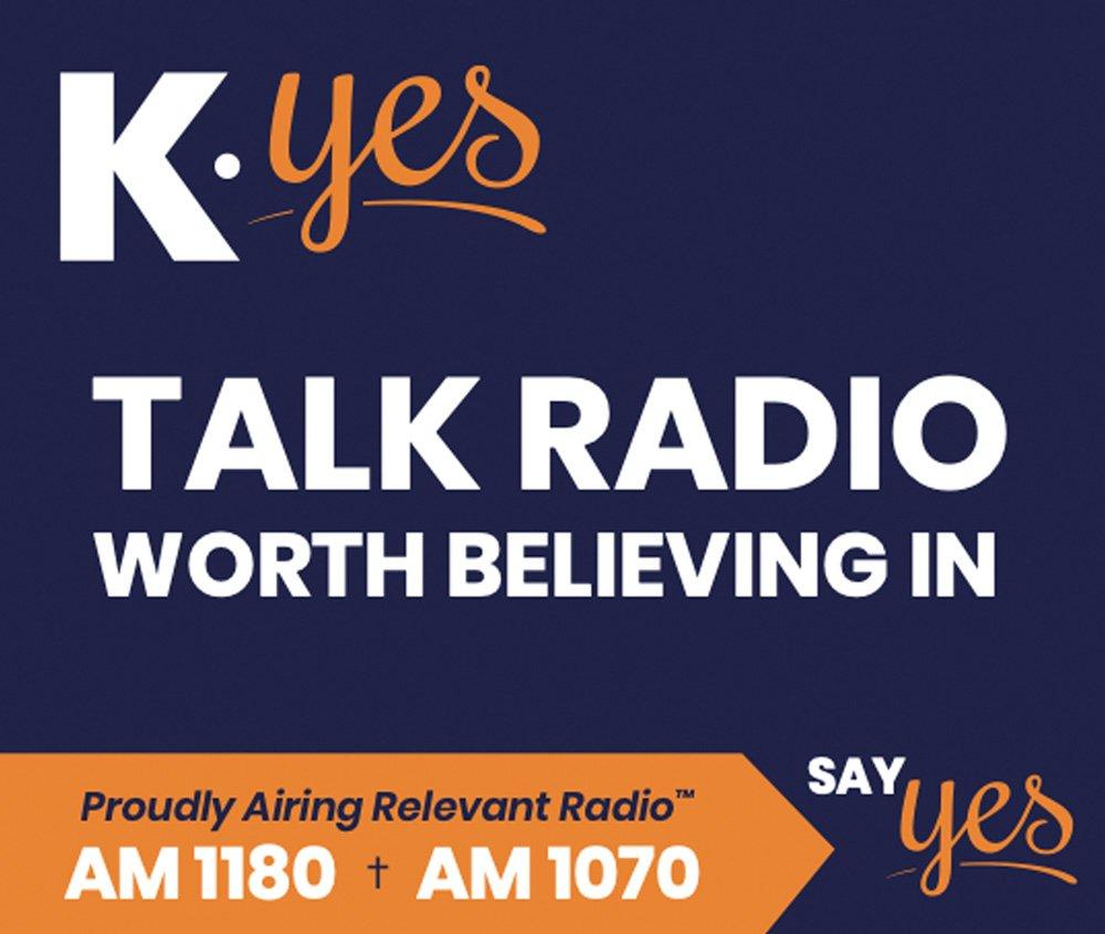 KYes Talk Radio billboard ad
