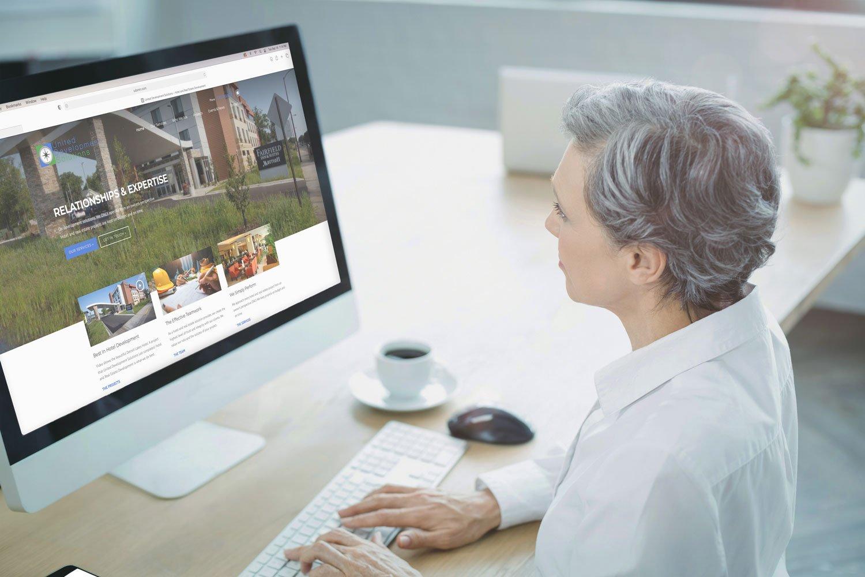 desktop website for UD