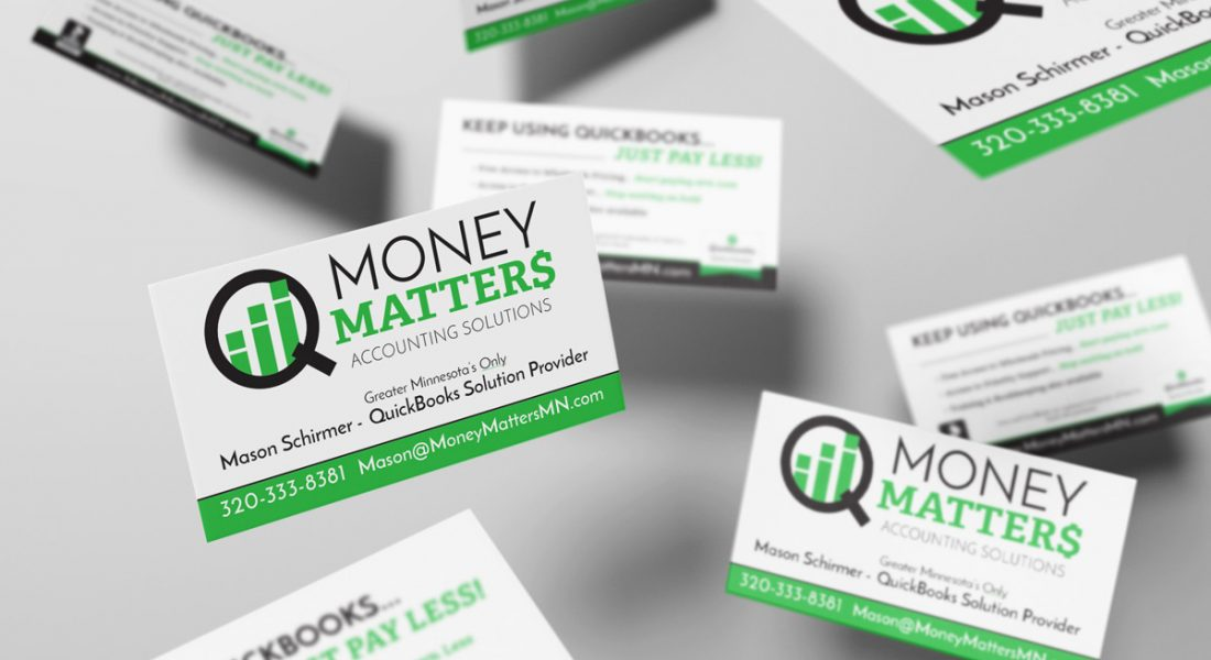 business cards for Money Matters